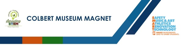 A graphic banner that shows Colbert Museum Magnet's name and the SMART logo