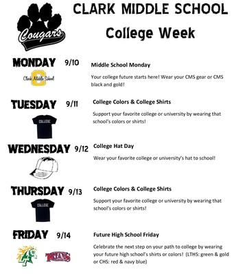 Clark College Week Next Week!