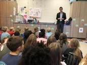 Mr. Van Egmond came to share about immigration
