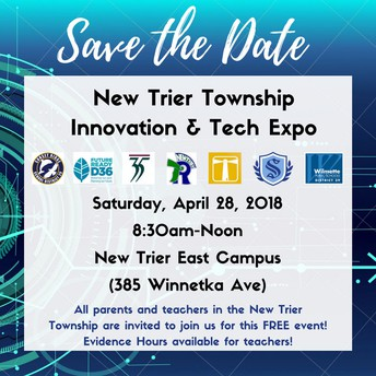 4th Posting: New Trier Innovation & Tech Expo TOMORROW