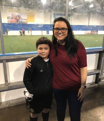Mrs. Griswold went to a student's soccer game!