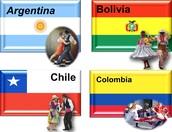 ARGENTINA, BOLIVIA, CHILE, COLOMBIA