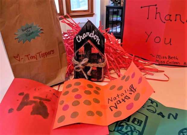 Gifts & Cards from Tiny Toppers Preschool to BOE Members