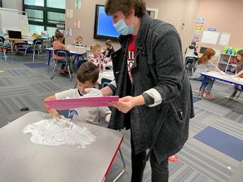 Kindergarten letter and phonics work