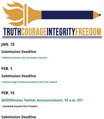 Updated IHSPA Calendar