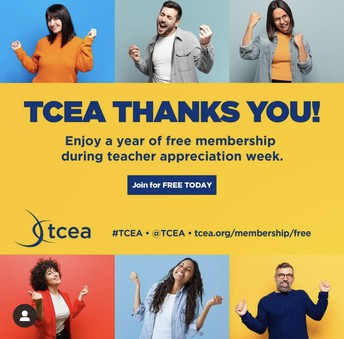 TCEA MEMBERSHIP IS FREE THIS WEEK ONLY