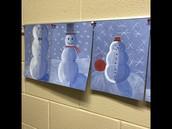 6th grade Snowman art