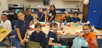 Enjoying our Thanksgiving Feast!
