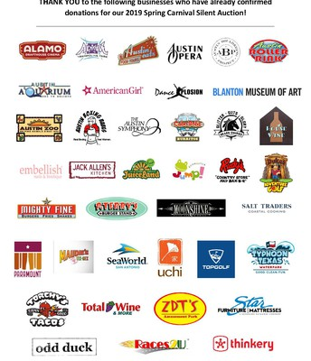 Thanks to our Spring Carnival Sponsors!