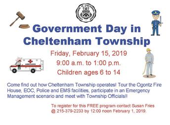 Cheltenham Township 'Government Day'