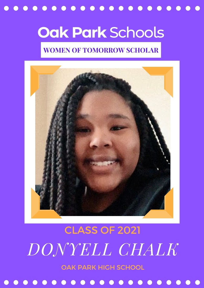 We are proud to announce that Women of Tomorrow mentee, Donyell Chalk, has received a Journalism Scholarship to attend Central Michigan University! We are so proud of you Donyell, CONGRATS!! The Women of Tomorrow mission is to inspire, motivate and empower at-risk young women to live up to their full potential through a unique mentoring program with highly accomplished professional women and scholarship opportunities.