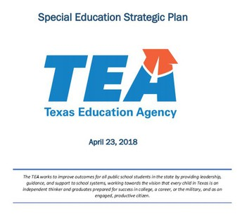 TEA Submits Special Education Strategic Plan