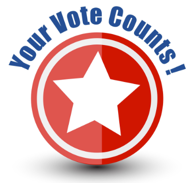 Election graphic your vote counts