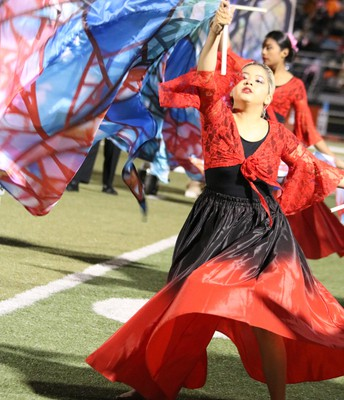 GHS Flag Corps looks awesome!