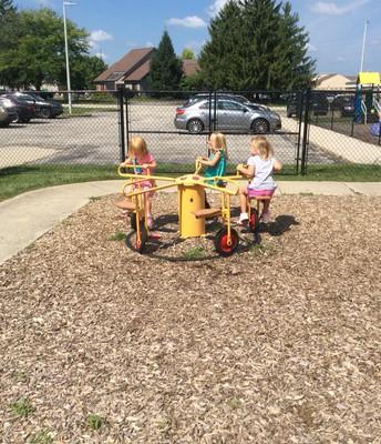 Riding the bike-go-round