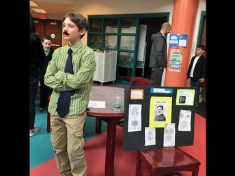 James as Nikola Tesla