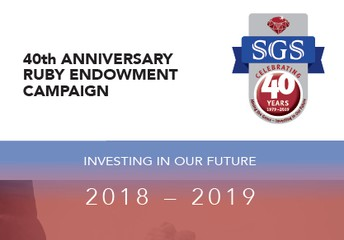 SGS Development Committee Launches the Ruby Endowment Campaign