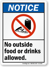 Outside Food and Beverages are Not Allowed