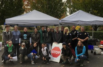 Participants + youth during October 2018 Drug Take Back at PeaceHealth