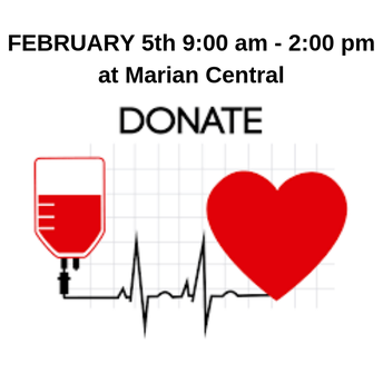 BLOOD DRIVE on TUESDAY FEB. 5th NEEDS YOU!