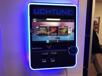 Digital Jukebox in the Smith-Cotton Cafeteria
