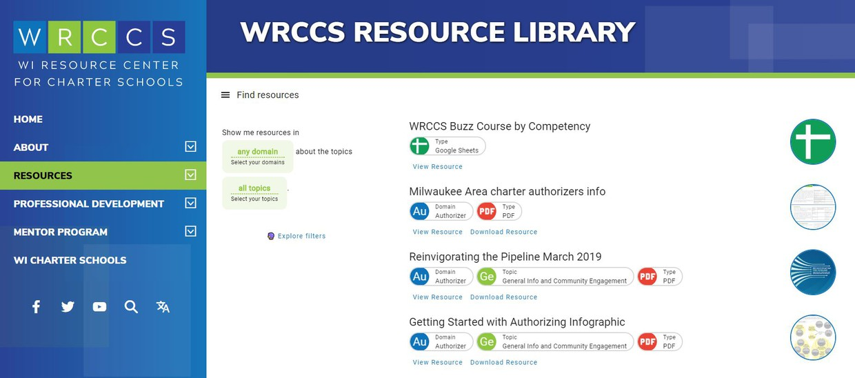 wrccs website screenshot, text