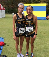 Paige Hercules and Maggie Hillman at State CC Meet