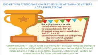 FINAL Elementary Attendance Contest!