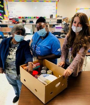 Job Coaches Preparing Thanksgiving Boxes