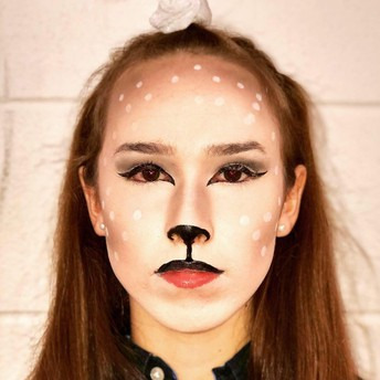 image of female student in animal makeup