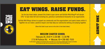 Buffalo Wild Wings Fund Raiser