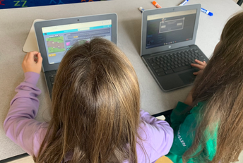 Students Working on Coding