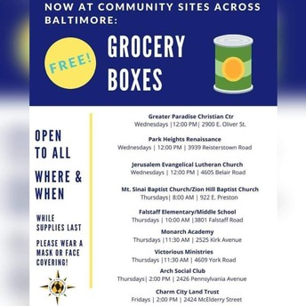 FREE GROCERY BOXES