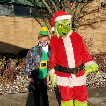 Buddy the Elf and The Grinch Showed Up at UCE!