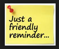 A Gentle Reminder from our Bookkeeper