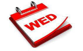 Wednesday this week is Period 5B 9am-10am.