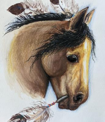 "Ksenia Kurlyand ""Native American Horse"""