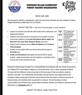 PTO Newsletter Pg. 1