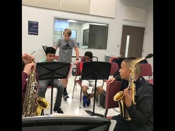 Saxophone Class Peer Teaching
