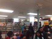 The Book Fair had many excited customers in grades 4-8!
