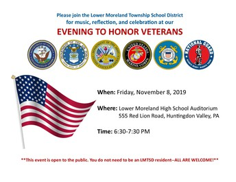 "An ""Evening to Honor Veterans"" will be held on November 8."