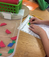 I can make a hexagon using many different shapes!