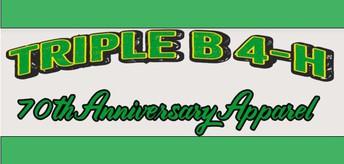 Triple B 4-H 70th Anniversary Apparel