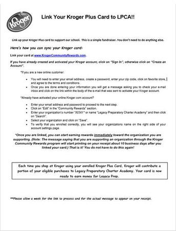 Kroger Plus Card Rewards Program