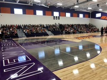 Back to School Assembly for the 4-8th grade students
