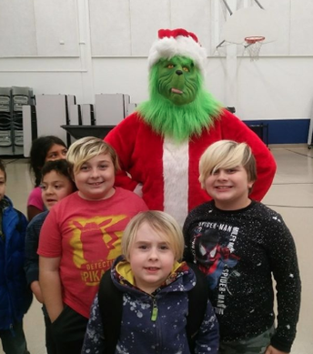 The Grinch at our PTC after school event