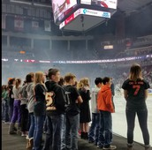 5th Graders Perform at Iowa Wild Hockey Game