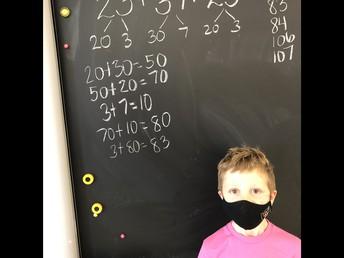 Amazing math thinking - way to go Kaden!
