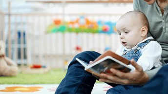 Child being read to
