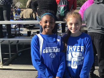 Carver Cougars Track teammates